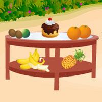 Вкусный кекс тропик
